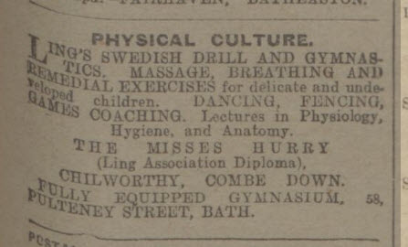 Physical culture from the Misses Hurry - Bath Chronicle and Weekly Gazette - Saturday 15 September 1917