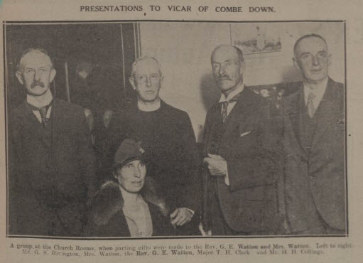 Presentation to Vicar - Bath Chronicle and Weekly Gazette - Saturday 18 October 1930