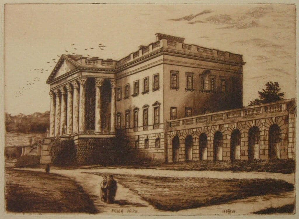 Prior Park by Ellison, 1886