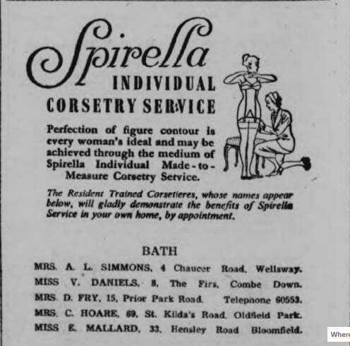 Spirella advert - Bath Chronicle and Weekly Gazette - Saturday 17 June 1950