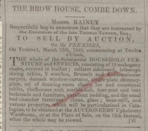 The Brow effects sale - Bath Chronicle and Weekly Gazette - Thursday 8 March 1849