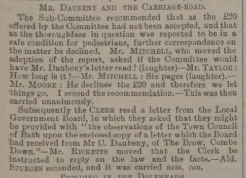 The Daubeney complaint saga continues - Bath Chronicle and Weekly Gazette - Thursday 30 November 1893