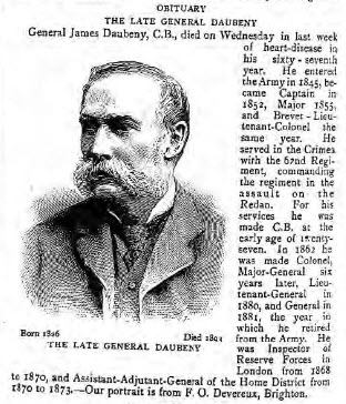 The Late General Daubeney - The Graphic - Saturday 23 September 1893