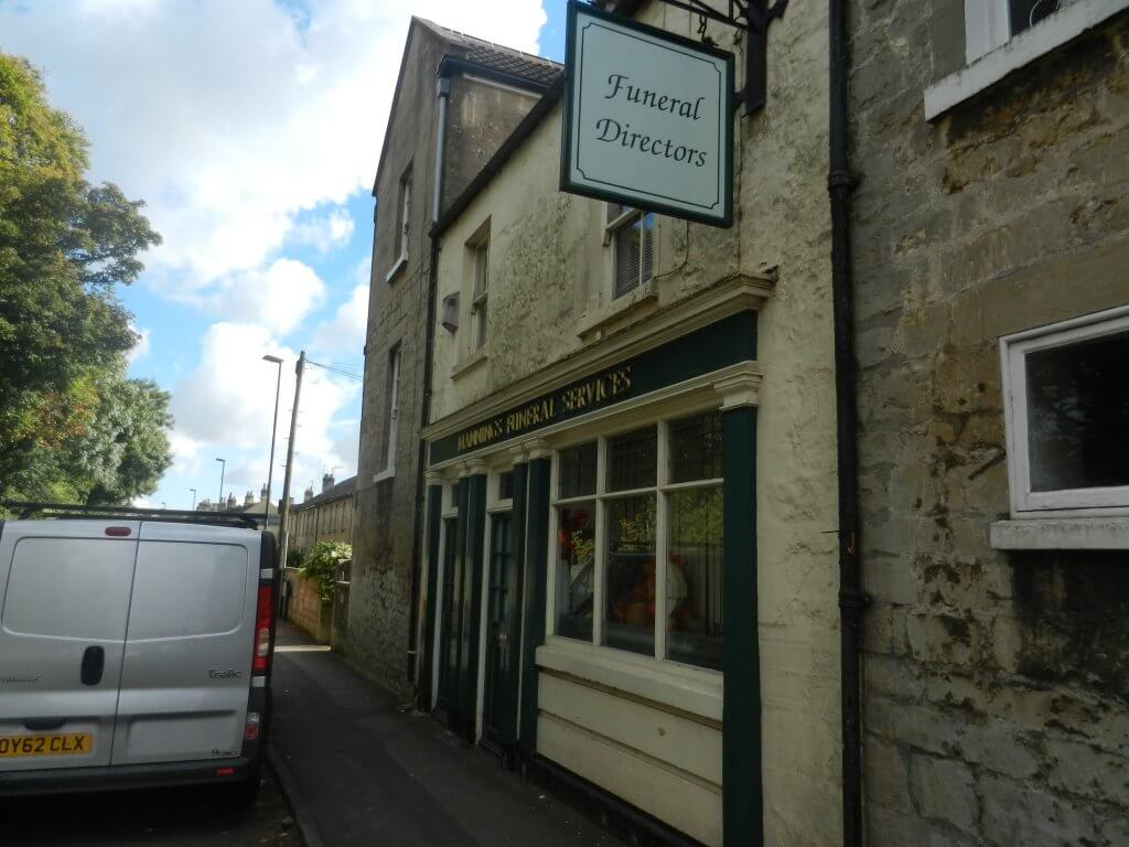 The Masons Arms, Combe Down - now a funeral parlour