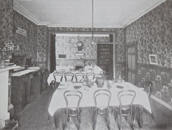The Monkton Combe Junior School dining room at Combe Lodge