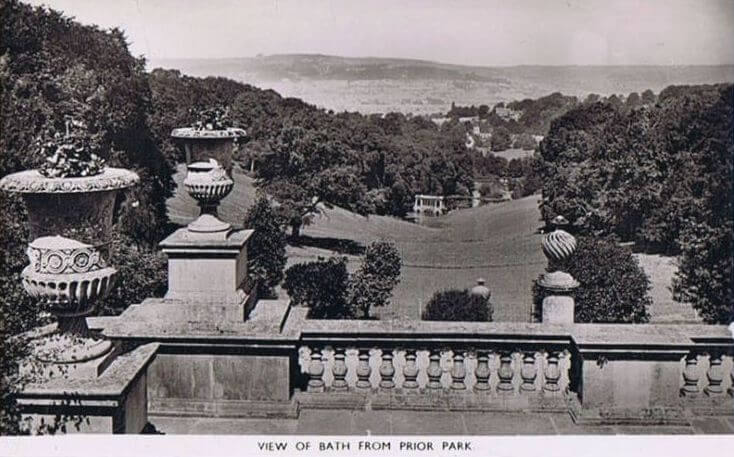 View of Bath from Prior Park about 1950s
