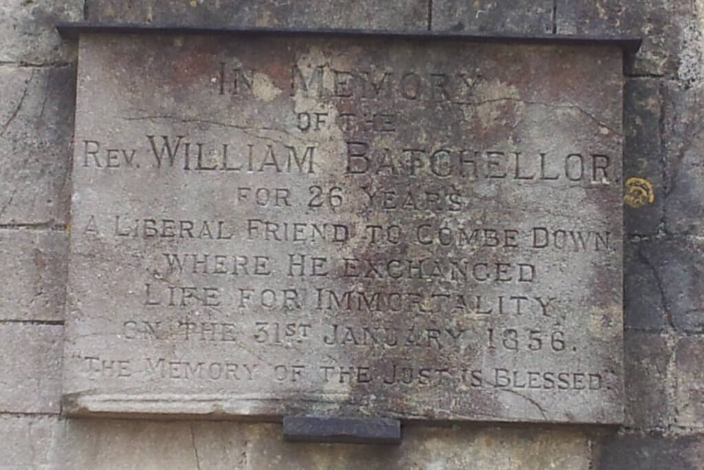 William Batchellor memorial on old Combe Down school