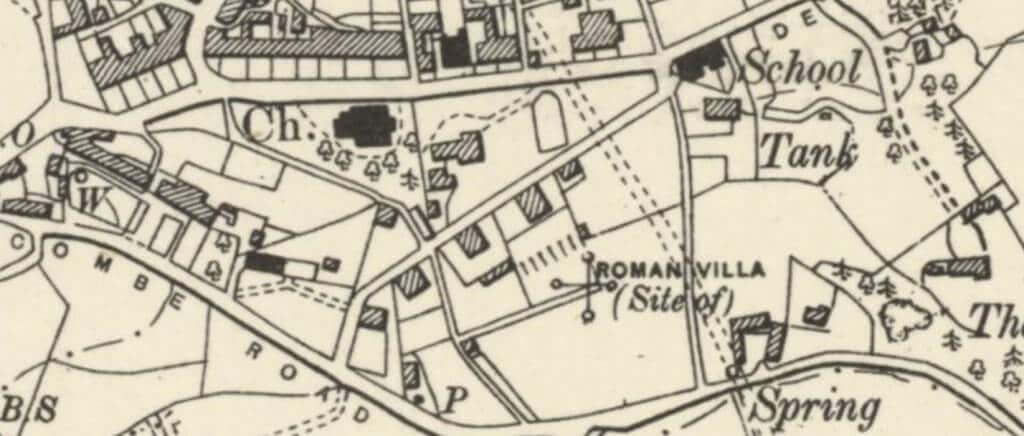 1904 map of Combe Down - Belmont area