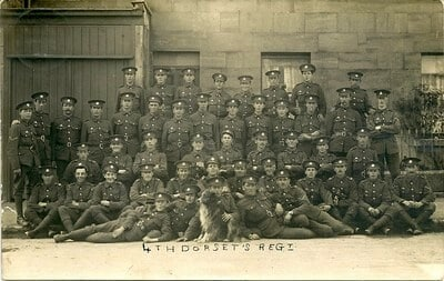 3rd & 4th Dorset Regiment soldiers at Combe Down, May 1915