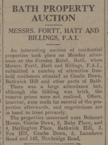 Belmont House fails to sell - Bath Chronicle and Weekly Gazette - Saturday 17 April 1937