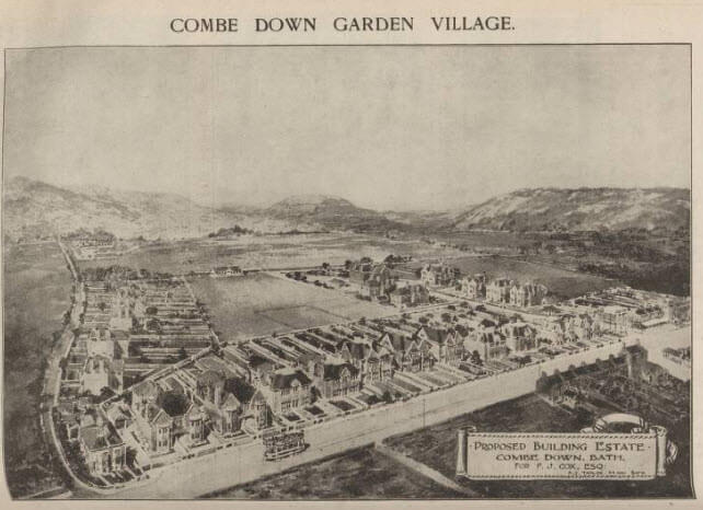 Combe Down Garden Village plan - Bath Chronicle and Weekly Gazette - Saturday 24 March 1923