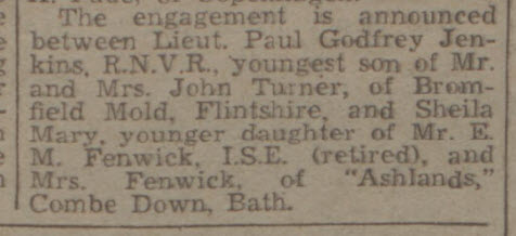 Fenwick engagement - Bath Chronicle and Weekly Gazette - Saturday 17 August 1946