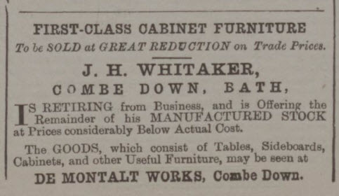 J H Whitaker retiring sale - Bath Chronicle and Weekly Gazette - Wednesday 5 December 1894