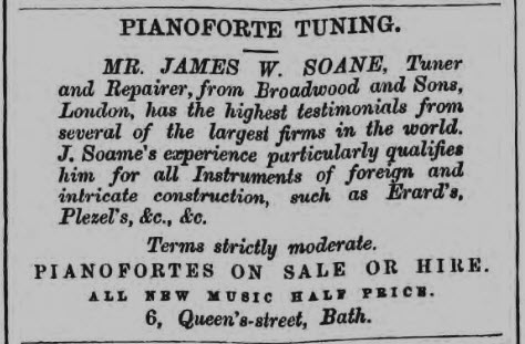 James W Soane advert - Devizes and Wiltshire Gazette - Thursday 28 September 1865