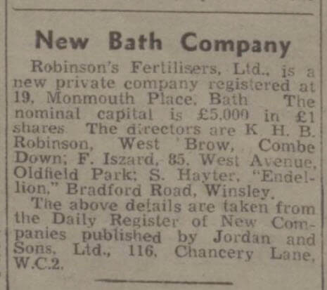 Keith Harry Brian Robinson at West Brow - Bath Chronicle and Weekly Gazette - Saturday 3 July 1948