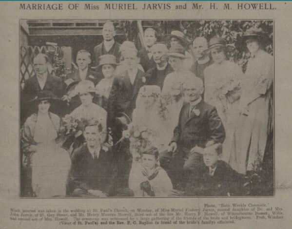 Marriage of H M Howell & M F Jarvis - Bath Chronicle and Weekly Gazette - Saturday 30 July 1921