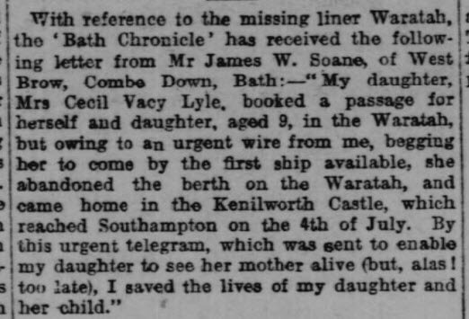 Missing liner - Western Daily Press - Wednesday 11 August 1909
