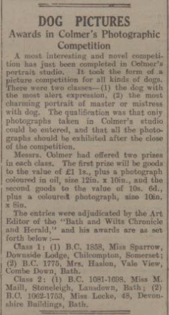 Mrs Haslam wins photography competition - Bath Chronicle and Weekly Gazette - Saturday 18 May 1935