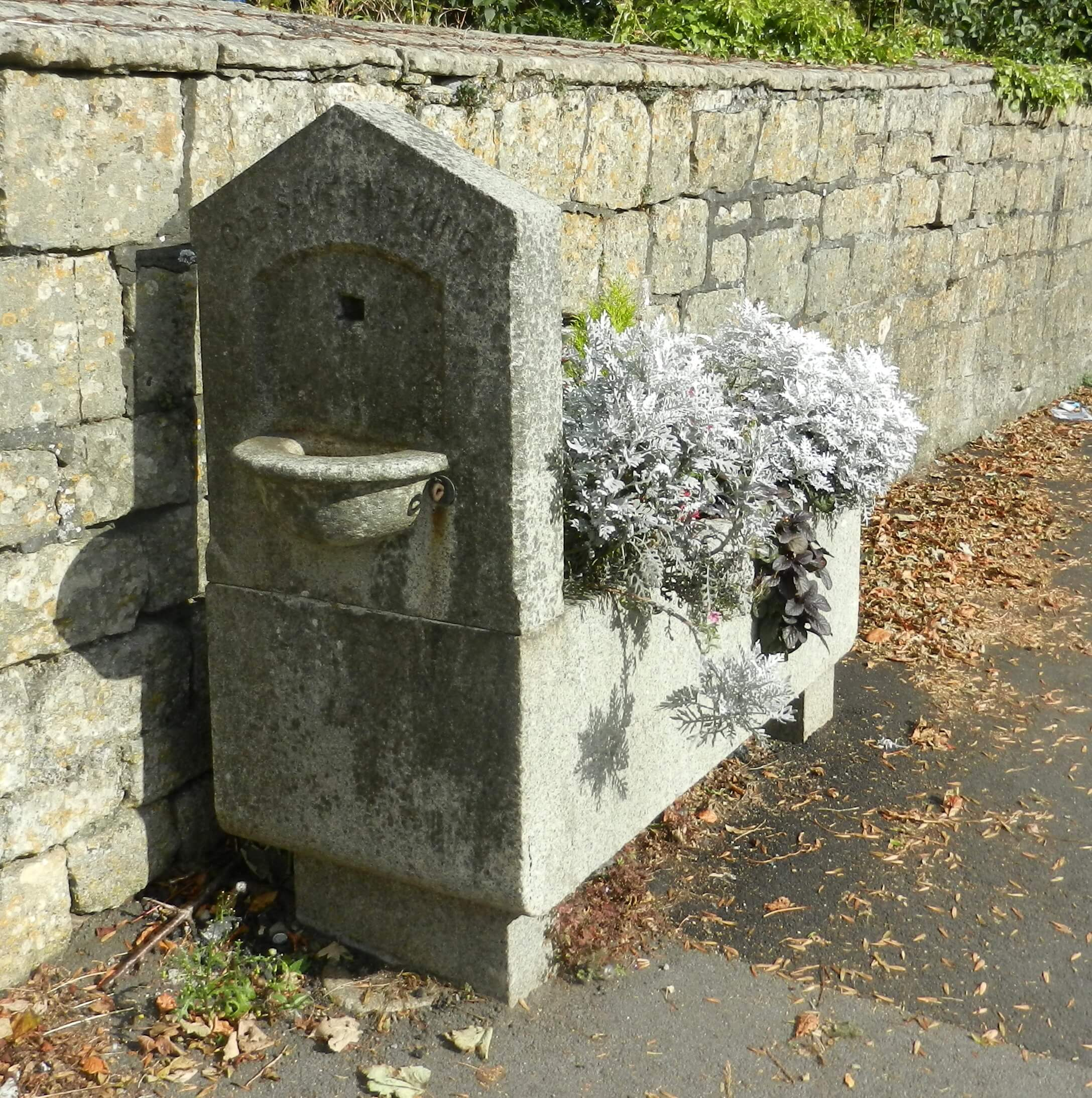 Old horse trough on North Road fountain