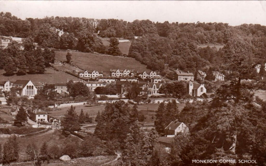 Old postcard of Monkton Combe school