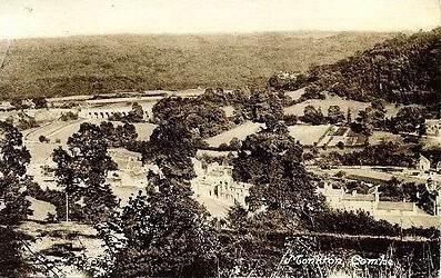 Old view across Monkton Combe