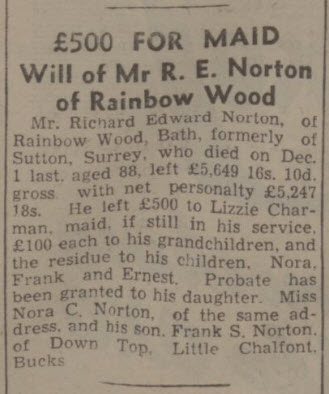 Richard Edward Norton will - Bath Chronicle and Weekly Gazette - Saturday 5 February 1944