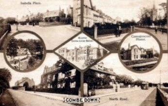 Seven views of the village of Combe Down