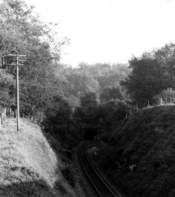 The Combe Down tunnel cutting