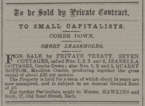 To small capitalists - Bath Chronicle and Weekly Gazette - Thursday 15 February 1894