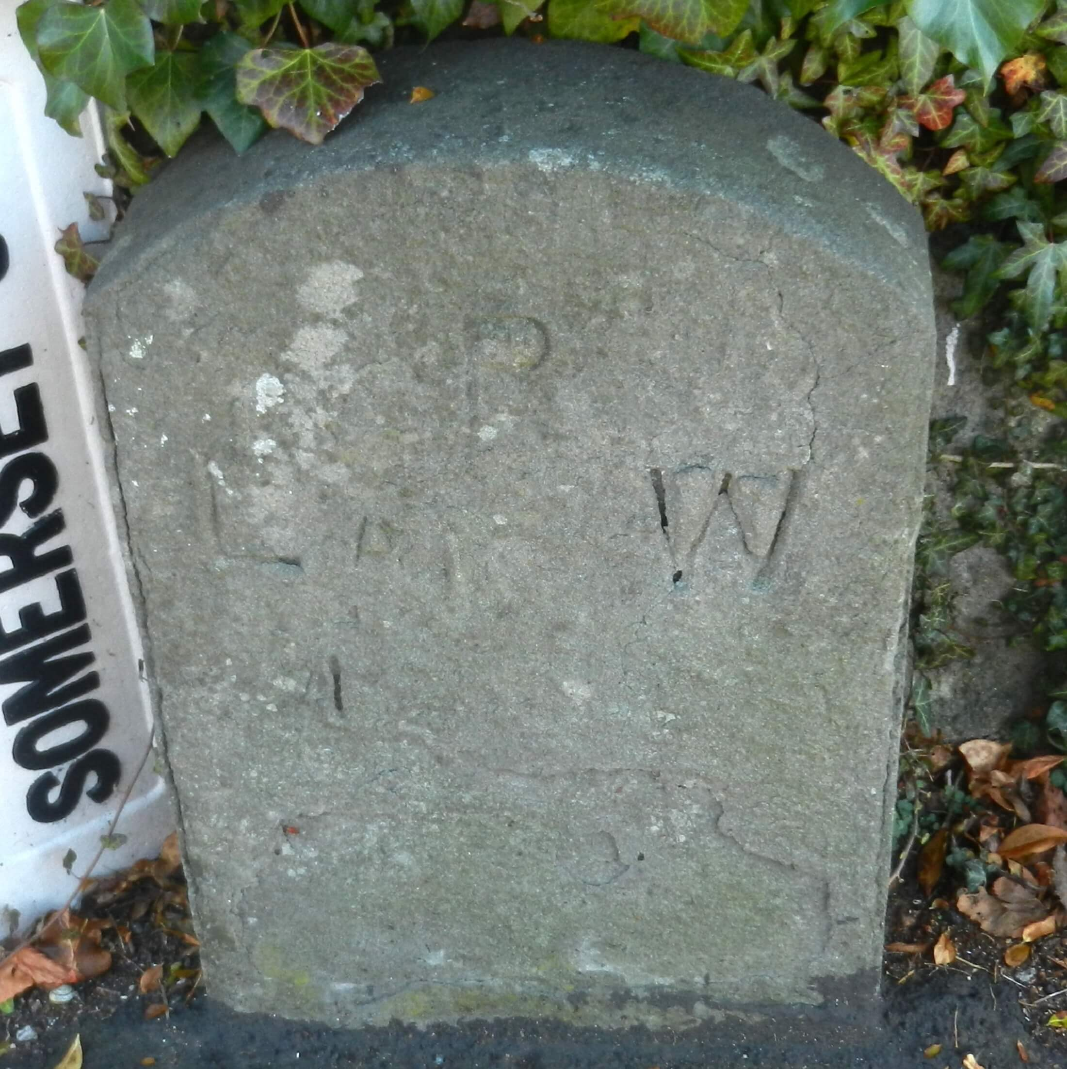 Boundary marker opposite Cross Keys