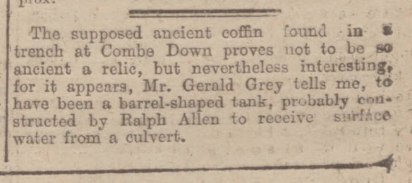Coffin or culvert? - Bath Chronicle and Weekly Gazette - Saturday 18 April 1925
