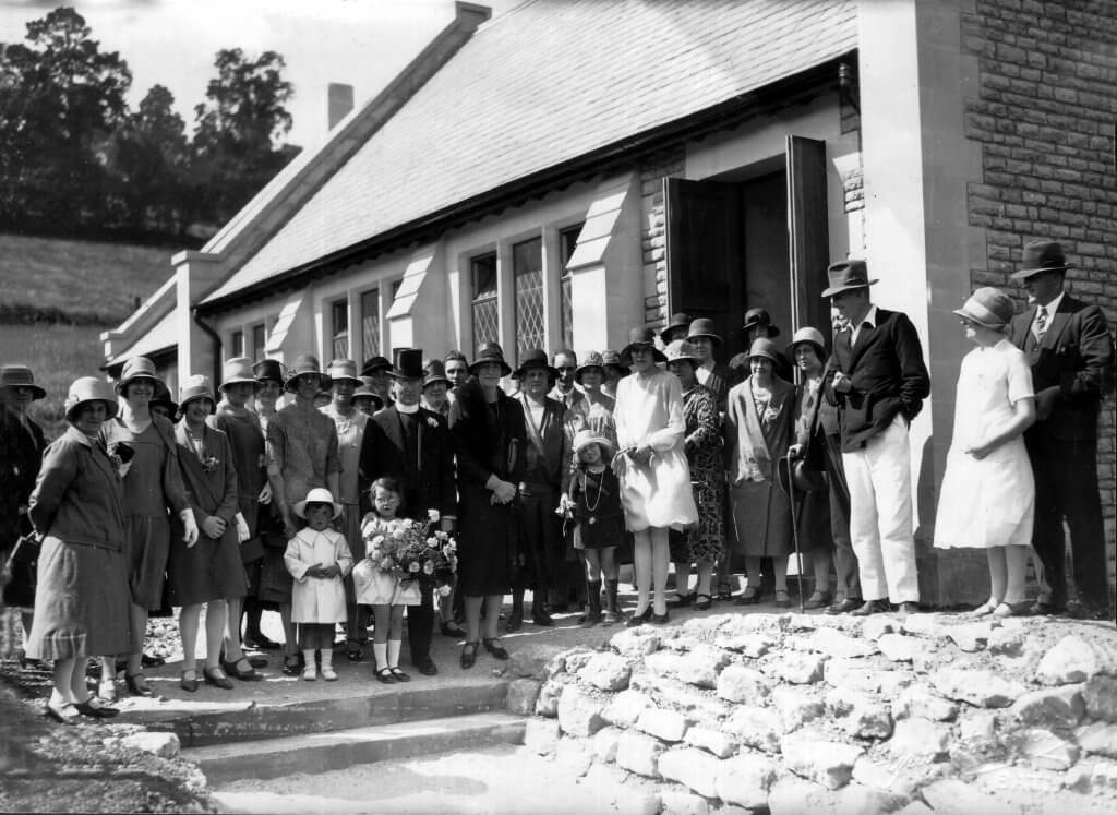Monkton Combe Village Hall - official opening in 1928