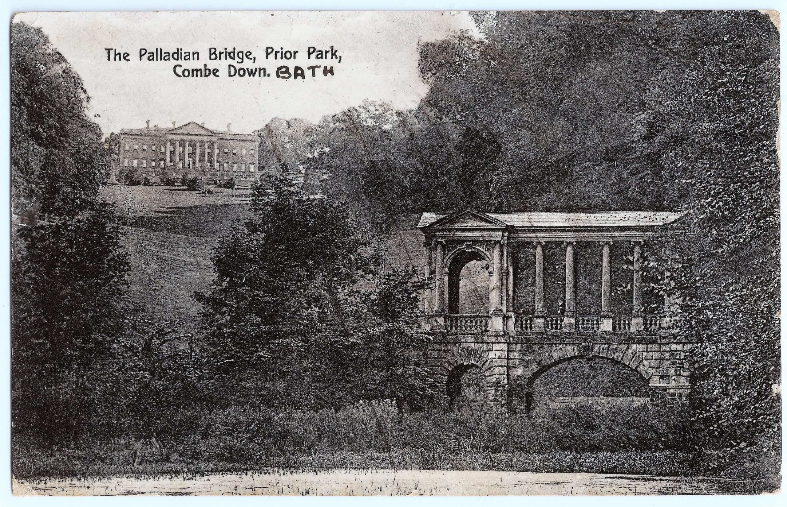Palladian Bridge, Prior Park, 1914