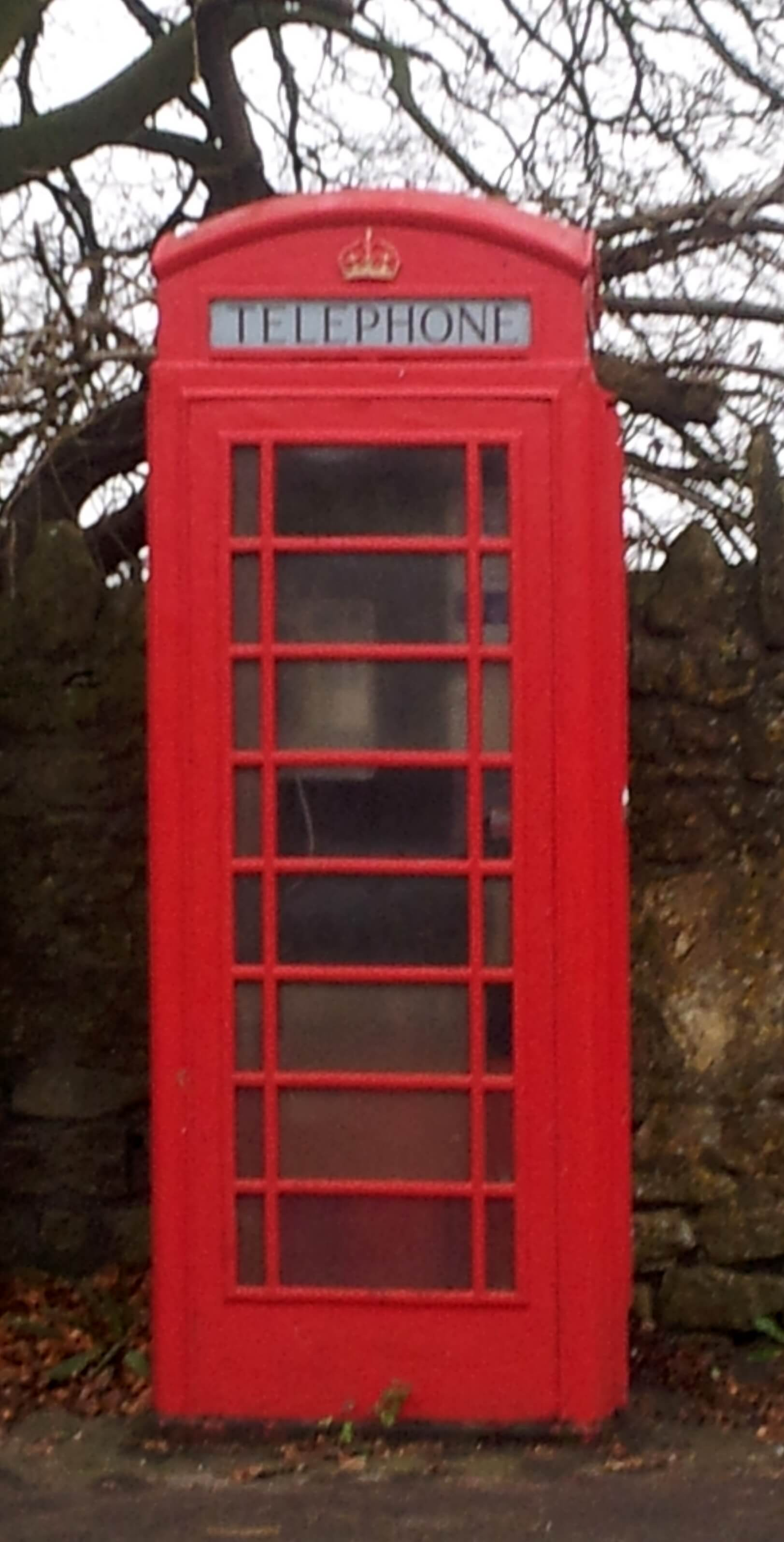 Phone box on Claverton Down Road