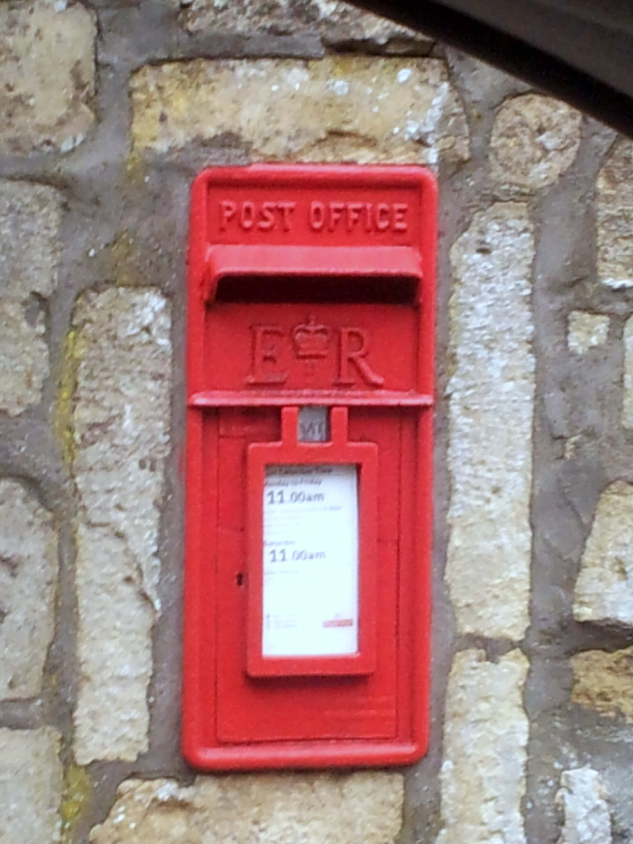 Post box on Brassknocker Hill