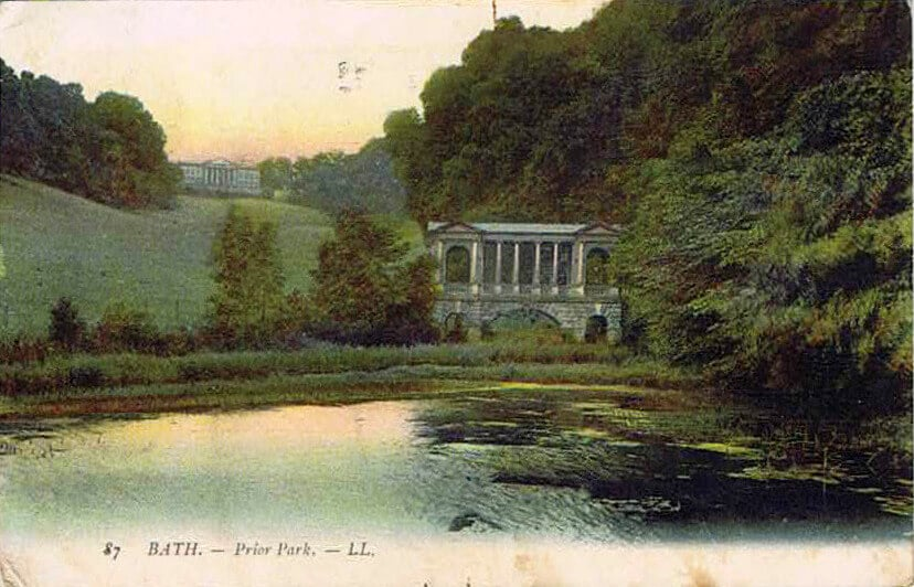 Prior Park and bridge early 1900s