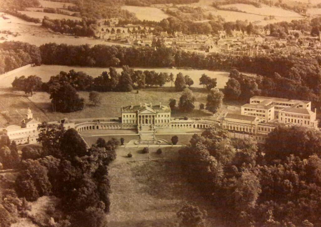 Prior Park from the air about 1960