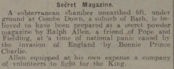 Secret powder magazine - Nottingham Evening Post - Friday 24 April 1925