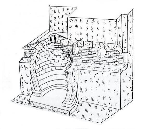 Sketch of subterranean chamber