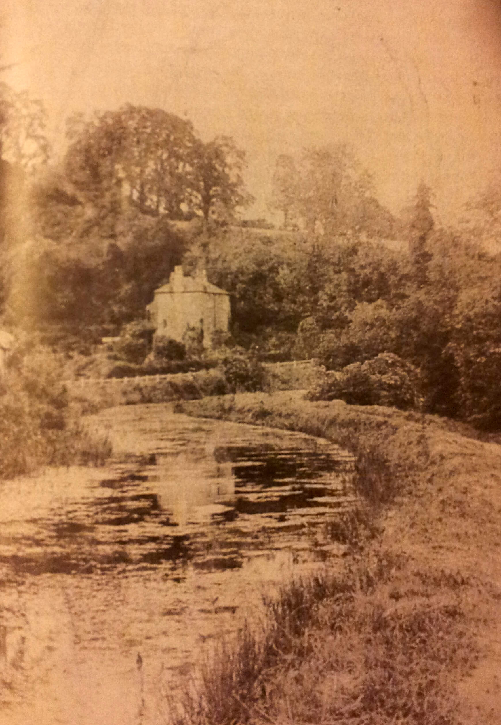 Somerset Coal Canal and Tucking Mill House early 1900s