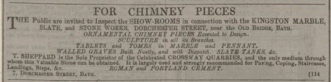 T Sheppard and Crossway quarry - Bath Chronicle and Weekly Gazette - Thursday 22 April 1858