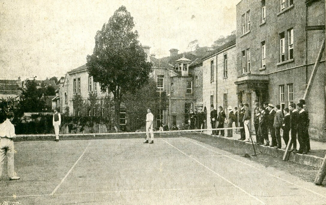 Tennis at Monkton Combe school, 1920s