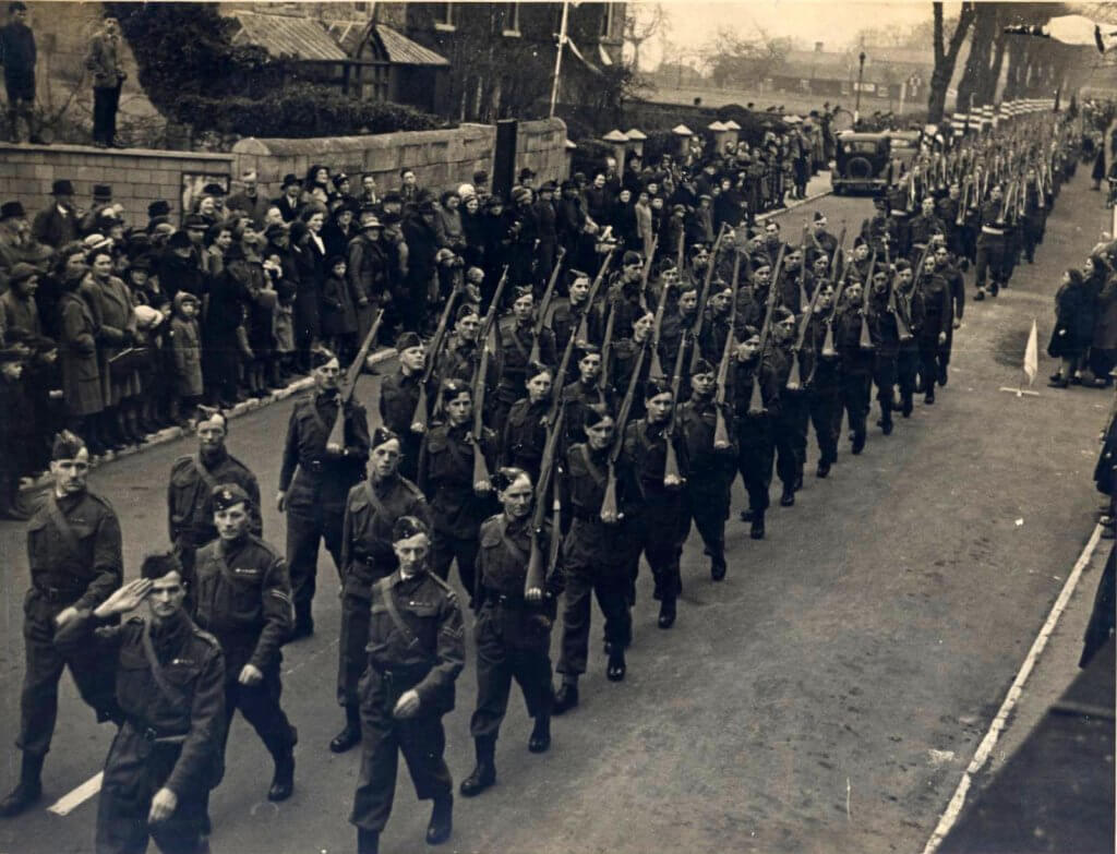 The Home Guard in The Avenue in WWII