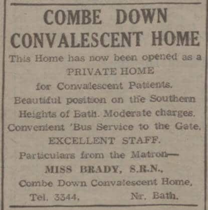 Combe Down Convalescent Home - Bath Chronicle and Weekly Gazette - Saturday 28 June 1947