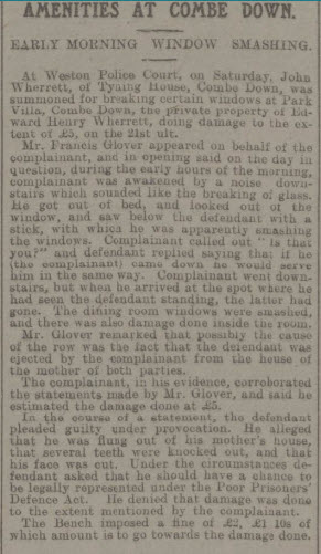 John Wherrett charge - Bath Chronicle and Weekly Gazette - Saturday 8 June 1912