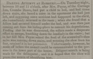 Robbery at the Carriage Inn - Bath Chronicle and Weekly Gazette - Thursday 14 August 1834