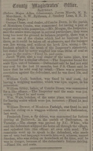 Sibley et al in court - Bath Chronicle and Weekly Gazette - Thursday 23 April 1863