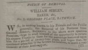 William Sibley move in Bathwick - Bath Chronicle and Weekly Gazette - Thursday 21 December 1854