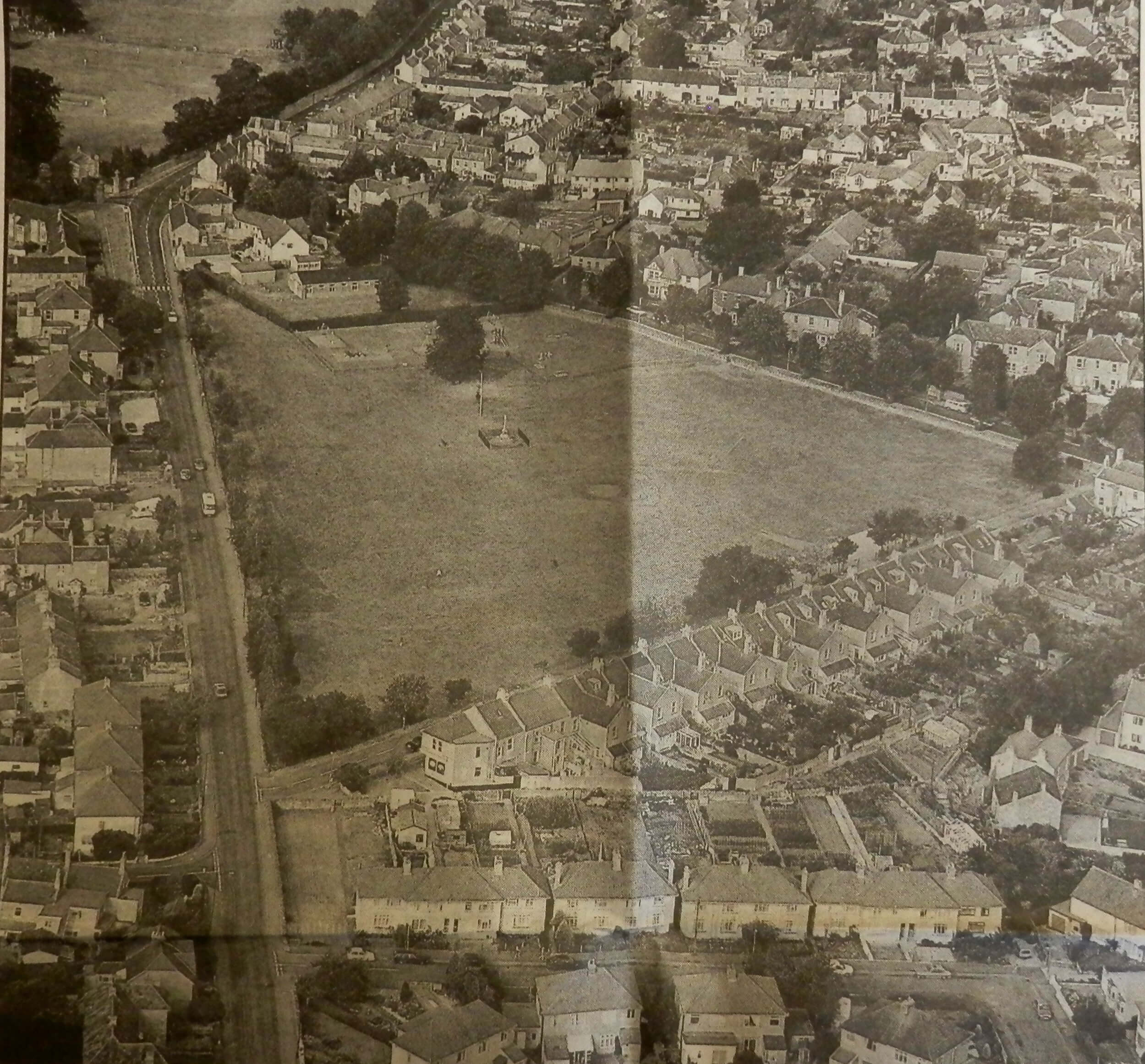 1993 aerial photo of Combe Down