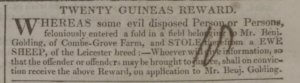 Benjamin Golding, Combe Grove Farm - Bath Chronicle and Weekly Gazette - Thursday 7 December 1826